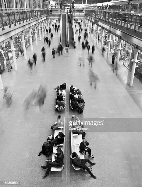 CONTENT] The train station at St Pancras during the day