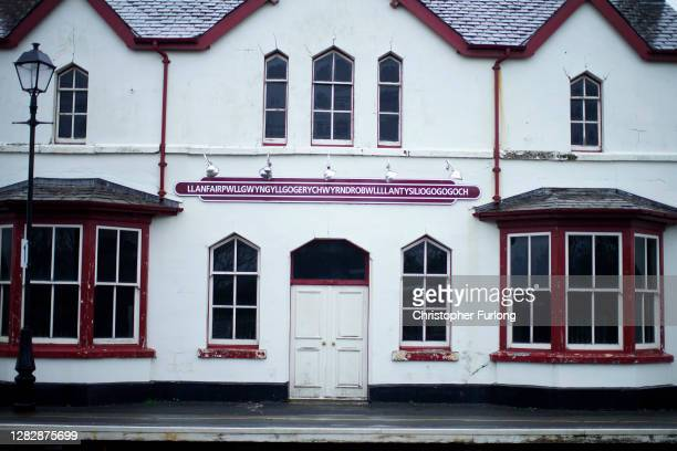 The train station at Llanfairpwllgwyngyllgogerychwyrndrobwllllantysiliogogogoch which has been closed since July and remains deserted during the...