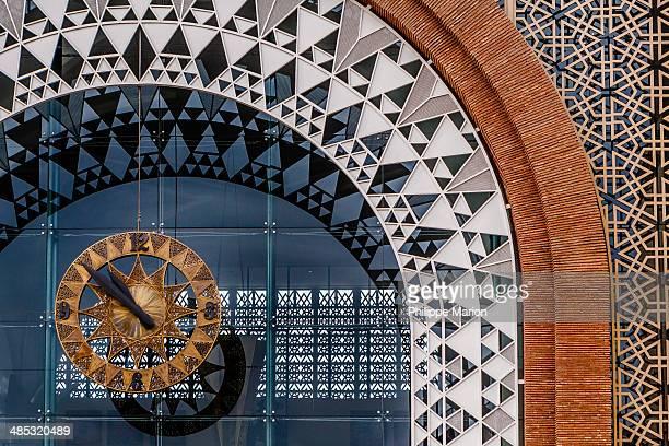 The train station clock facade - Marrakech