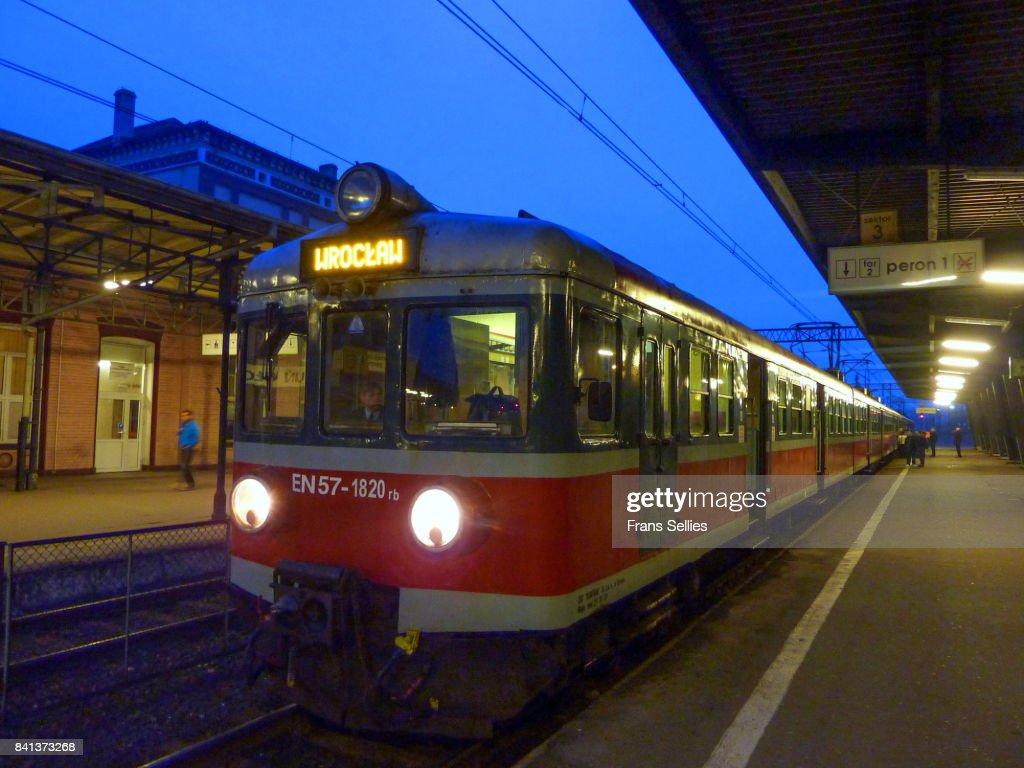 The train to Wroclaw, Poland : Stockfoto