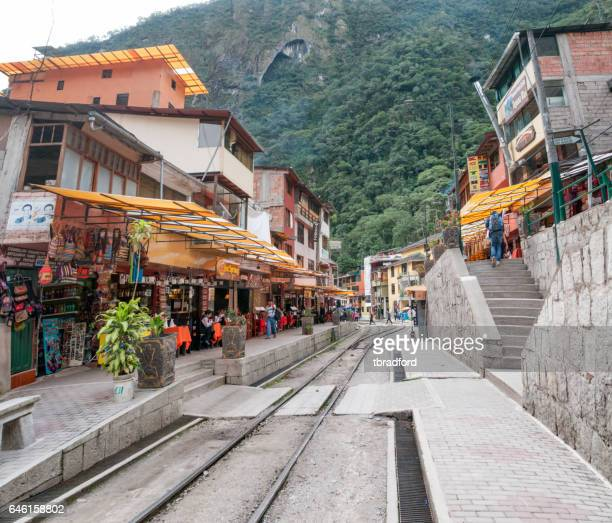 The Train Tracks In Aguas Calientes Peru