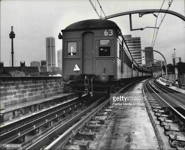 The train travels across the Edgecliffe Viaduct on its way back to the CityThe first train to carry members of the Public along the length of the...
