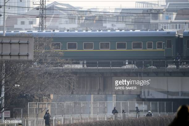 The train used by North Korean leader Kim Jong Un departs from Beijing on January 9 2019 A special train used by North Korean leader Kim Jong Un left...
