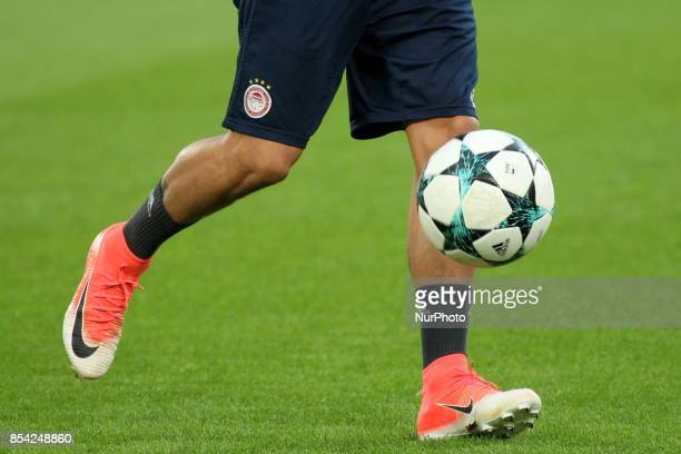 The training of Olympiakos FC on the eve of the UEFA Champions League match between Juventus FC and Olympiakos FC at Allianz Stadium on 26 September...