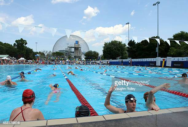 The Training pool at Parc JeanDrapeau during the 15th FINA World Masters Championships on August 04 2014 in Montreal Canada