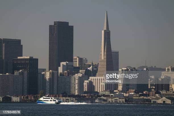 The Transamerica Pyramid building in San Francisco, California, U.S., on Thursday, Oct. 29, 2020. A group led by New York developer Michael Shvo's...