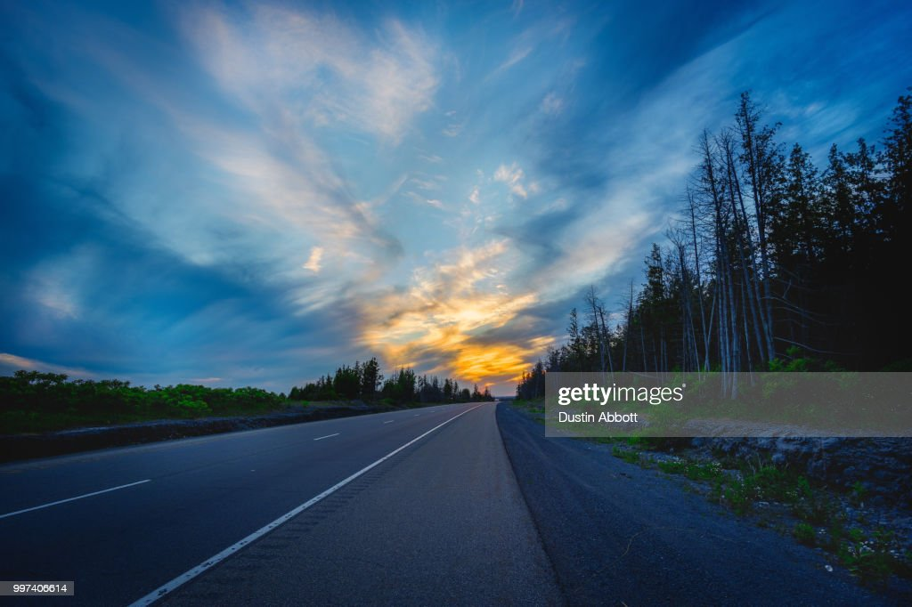 The Trans-Canada Highway : Stock Photo