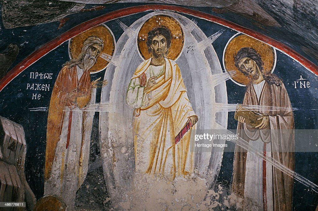 The Transfiguration of Jesus, 13th century. Found in the collection of the Boyana Church. : News Photo
