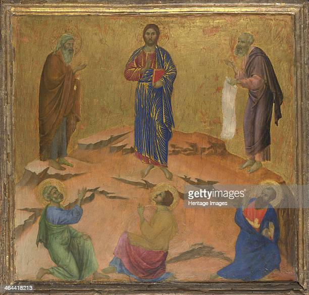The Transfiguration of Jesus ca 13081311 Found in the collection of the National Gallery London