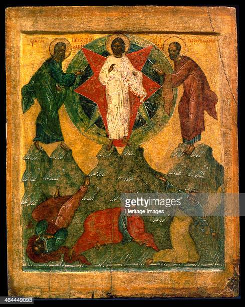 'The Transfiguration of Jesus' Russian icon early 16th century According to the Bible the Transfiguration of Christ was an event where Jesus became...