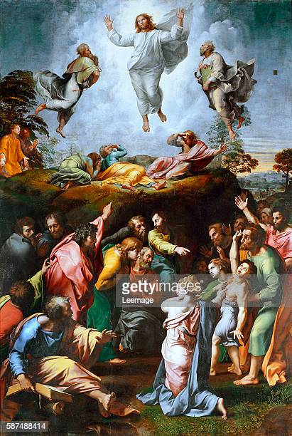 The Transfiguration Painting by Raffaello Sanzio of Urbino called Raphael oil on panel c 15191520 Vatican Museums and Galleries Vatican City