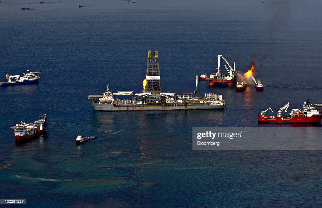 BP Oil Spill Gushing Up To 60,000 Barrels Of Oil A Day Into Gulf Of Mexico : News Photo