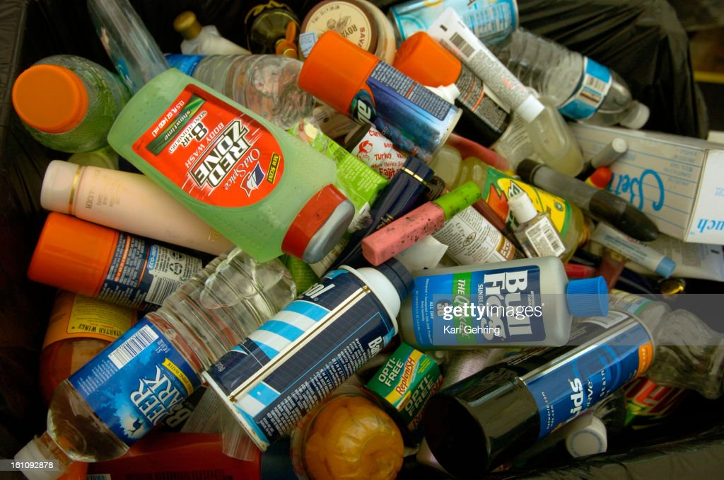 DENVER, CO, (AUGUST 10, 2006) -- The Transportation Security Administration screeners confiscated soft drinks, perfume, shaving lotion, suncreen, moisturizer, baby food, just about anything in liquid form, as security was tightened to Level Orange Thursda : News Photo