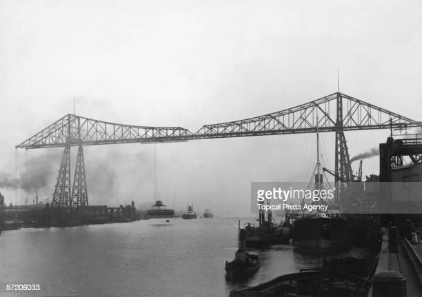 The Transporter Bridge across the River Tees in Middlesbrough 17th September 1902 It was built in 1911