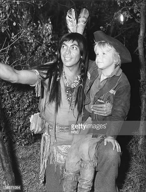BOONE The Trap Episode 26 Aired 3/17/1966 Pictured Ed Ames as Mingo and Darby Hinton as Israel Boone