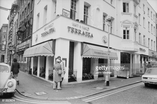 The Trattoria Terrazza on the corner of Dean Street and Romilly Street in London's Soho, opened in 1959 by Mario Cassandro and Franco Lagattolla,...