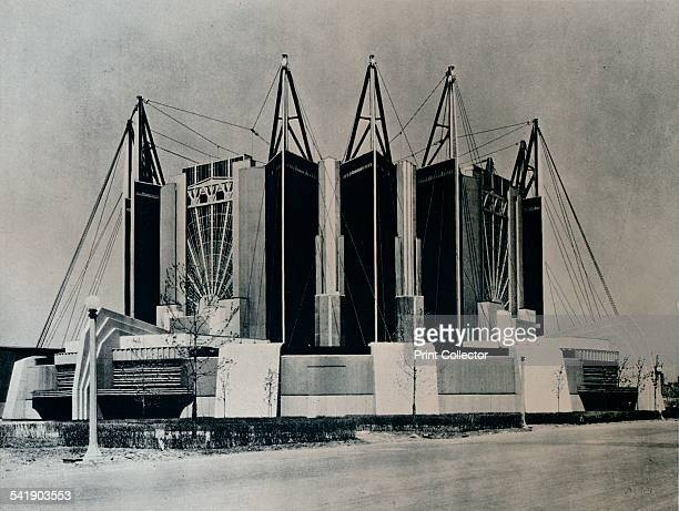 The Travel and Transport Building 1932 The Travel and Transport Building at the Chicago World`s Fair 1933 the Century of Progress International...