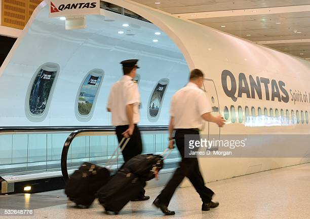 The travelator at Sydney Airport for Qantas terminal has been branded by Tourism New Zealand on September 6 2015 in Sydney Australia
