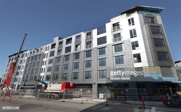 The Treadmark building in the Dorchester neighborhood of Boston July 26 2017 Last month a sixalarm fire tore through the building due to a poorly...
