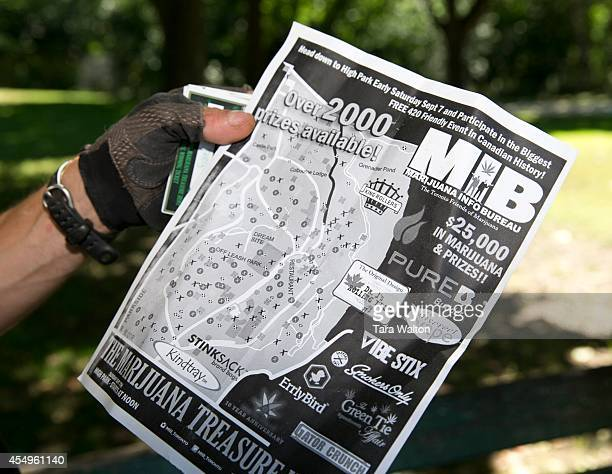 The treasure map depicting where prize cards can be found in Sunday's Marijuana Scavenger Hunt The second annual High Park Marijuana Scavenger Hunt...