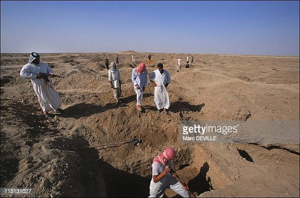 The treasures of Baghdad miraculously reappear in Iraq in July 2003 The Isin archeological site Southern Iraq Despite the intervention of US troops...