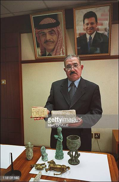 The treasures of Baghdad miraculously reappear in Iraq in July 2003 Amman Jordan The director of the Jordanian customs office Mahmoud Quteishi...