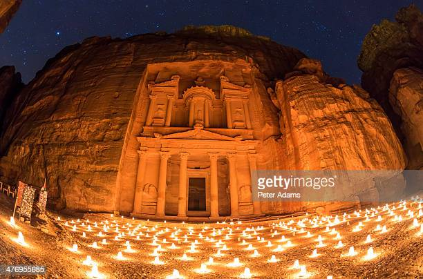 The Treasury (El Khazneh), at night lit by candles