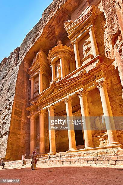 The Treasury at Petra in midday sunlight