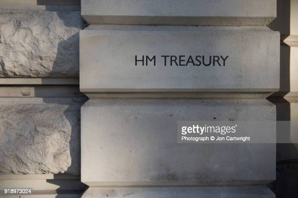 The Treasury building in London