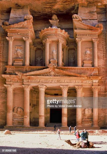 The Treasury in the ancient Nabataean city of Petra, Jordan