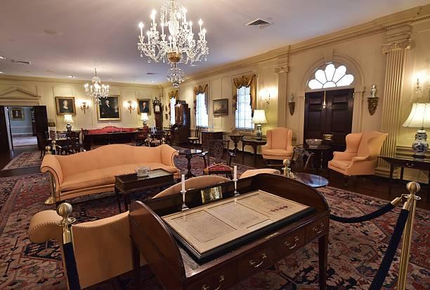 The Treaty Of Paris Desk Is Seen Inside John Quincy Adams State Drawing Room