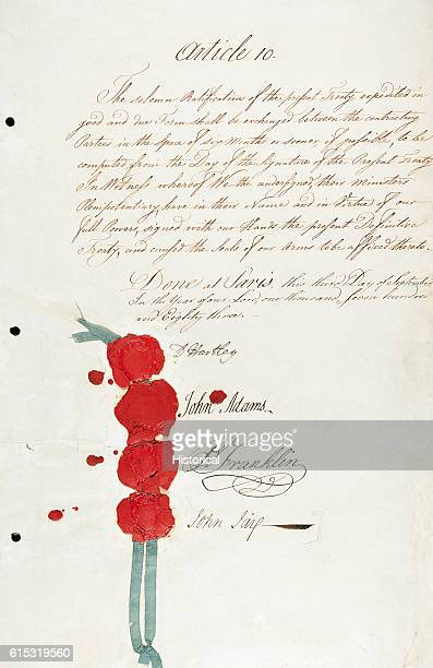 The Treaty of Paris ended the American Revolution between the United States of America and Great Britain The Treaty bears the signatures of John...