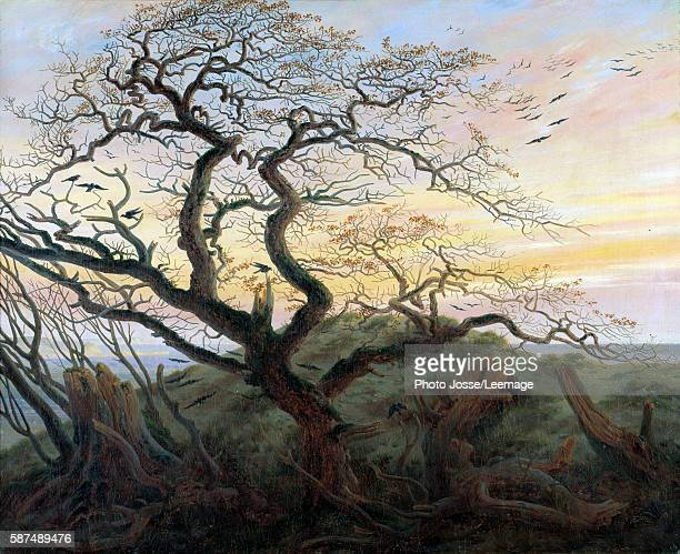 The Tree of Crows. Painting by Friedrich Caspar David , 1822. Louvre Museum, Paris