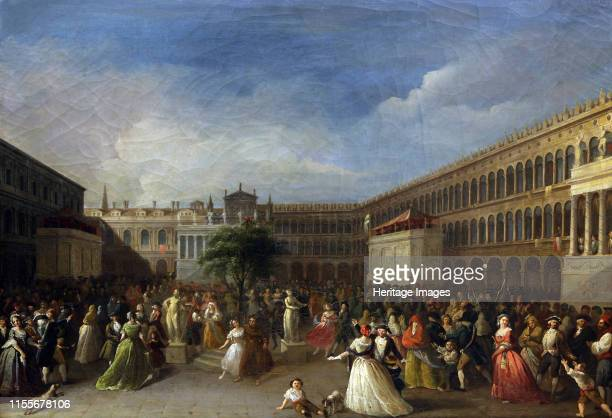 The Tree of Liberty erected in the Piazza San Marco 4 June 1797 1797 Found in the Collection of Museo Correr Venice Artist Borsato Giuseppe