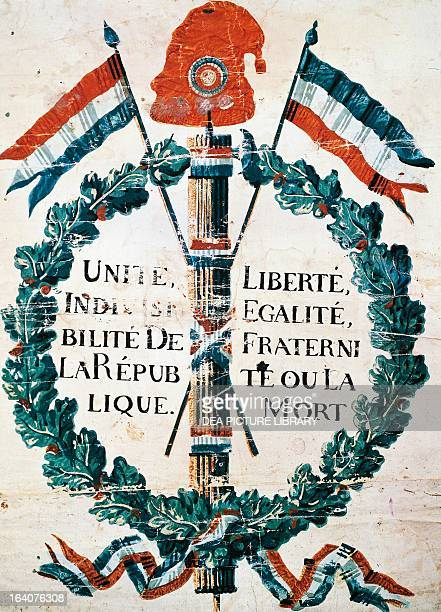 The Tree of Liberty with the motto of the French Revolution 1793 France 18th century Paris Musée De La Publicité