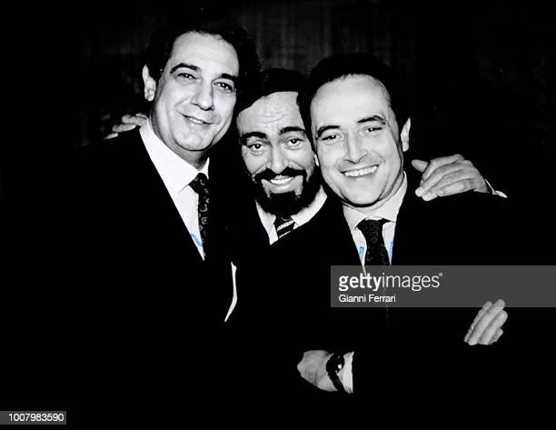 Placido Domingo, Luciano Pavarotti and Jose Carreras, Barcelona, 1998.
