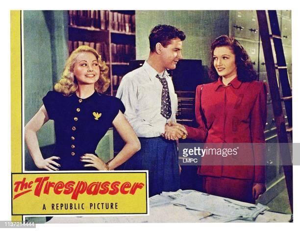 The Trespasser poster US lobbycard from left Adele Mara Warren Douglas Janet Martin 1947