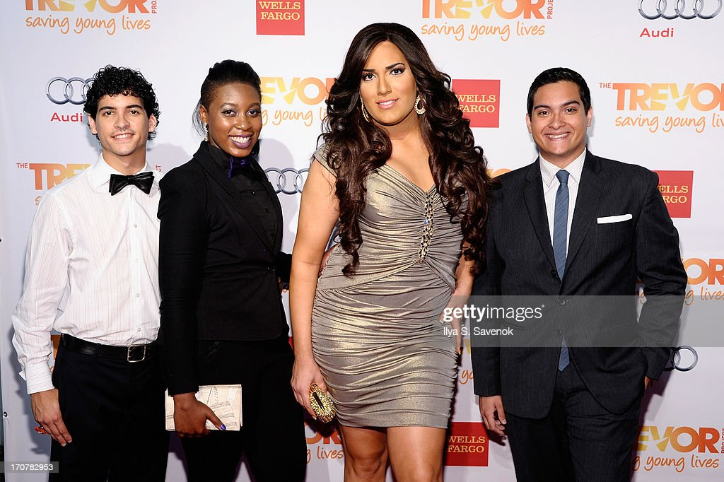 The Trevor Project's members Gabriel Garcia-Vera, Shontay Richardson, Andii Viveros and guest attend the 'TrevorLIVE' Event Honoring Cindy Hensley McCain at Chelsea Piers on June 17, 2013 in New York City.