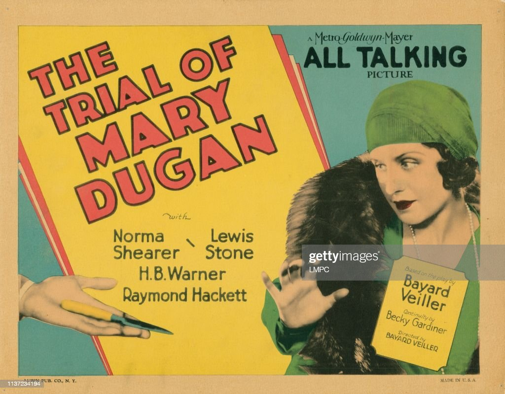 Classic Old Movie : The Trial Of Mary Dugan 1929
