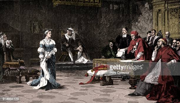 The trial of Queen Catherine 1529 Catherine of Aragon pleading her case against divorce from King Henry VIII From Cassell's History of England Vol II...