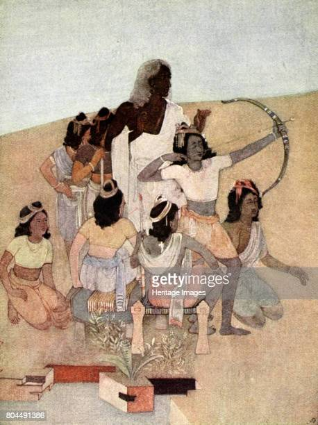 The Trial of the Princes' 1913 A scene from the Hindu epic the Mahabharata Illustration from Myths of the Hindus and Buddhists by Sister Nivedita and...