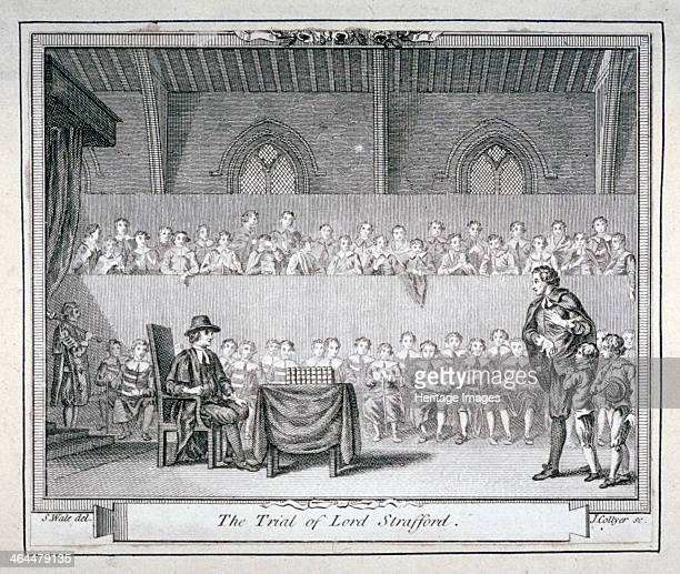 The Trial of Thomas Wentworth, Earl of Strafford, Westminster Hall, London, 1641 . Having been impeached by Parliament, Strafford was found guilty of...