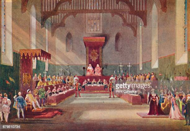 The Trial Scene in Henry VIII' 1904 From Social England Volume VI edited by HD Traill DCL and J S Mann MA [Cassell and Company Limited London Paris...