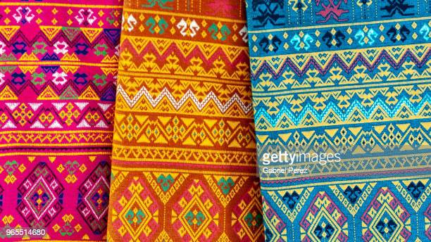 the tribal textiles of chiang mai - tradition stock pictures, royalty-free photos & images