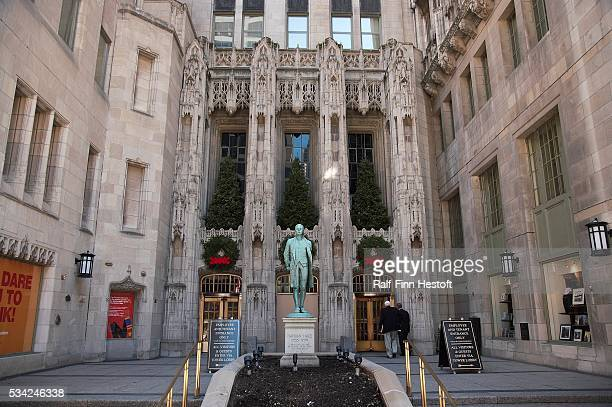 The Tribune Building in Chicago the main headquarters of the Chicago Tribune Company which owns the Los Angeles Times newspaper and the Chicago Cubs...
