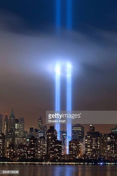 The Tribute in Light shines above lower Manhattan in New York on the 10th anniversary of the September 11 attacks on the United States