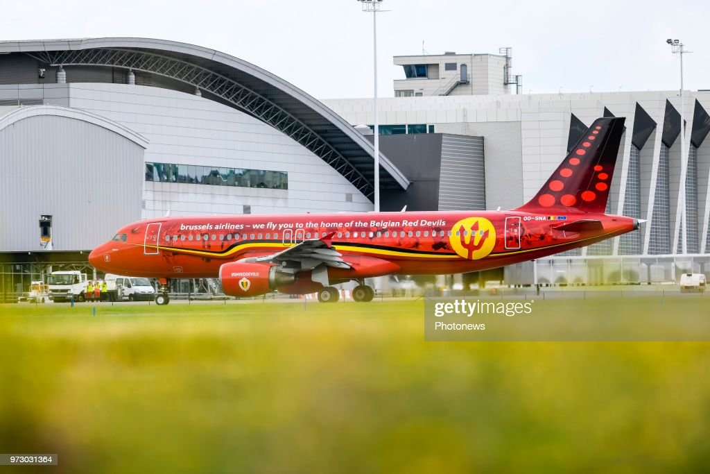 The Trident during the departure of the National Football Team of Belgium to the FIFA 2018 World Cup Football in Russia at Zaventem Airport on June 13, 2018 in Brussels, Belgium,