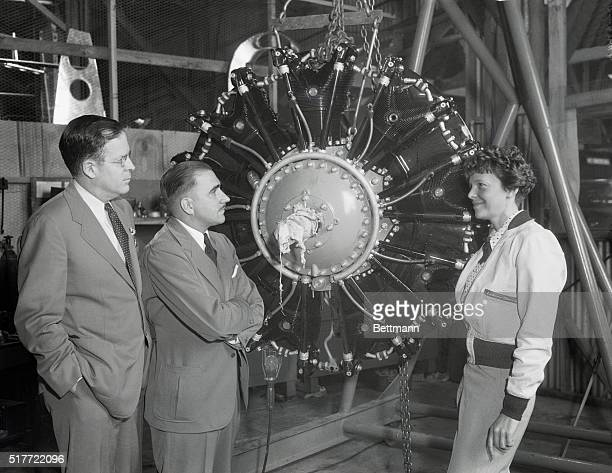 """The trime-low-wing transport plane purchased by the Amelia Earhart Fund for Aeronautical Research as a """"flying laboratory,"""" is a twin-engine Lockheed..."""