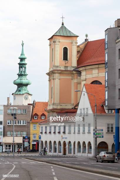 The Trinity Church and Michael's Gate in Bratislava