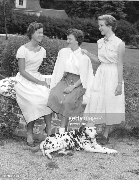 The trio pictured in the garden at High Valley farm the Lilly residence of Alsace way are Peggy Parsons Romie Lilly and Clare Parsons Credit Denver...